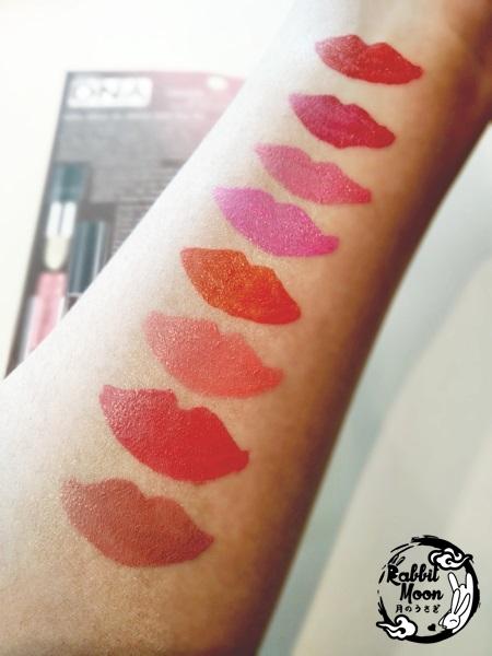 Mistine Lips Swatch